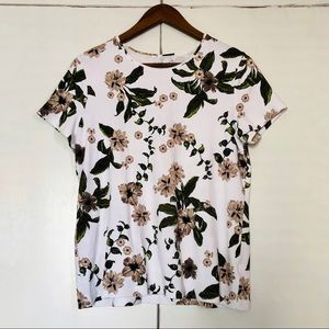 Floral cotton tee